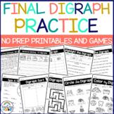 Ending Digraph Worksheets Differentiated Practice {Printab