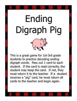 Ending Digraph Pig Game