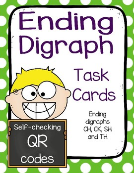 Ending Digraph Task Cards with QR Code Self-check