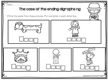 Ending Digraphs - Activity Pack