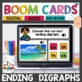 Ending Digraphs Boom Cards for Kindergarten