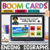 Ending Digraphs Boom Cards for Kindergarten