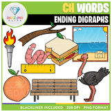Ending Digraphs CH Words Clip Art