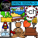 Ending Digraphs - CH Words {Creative Clips Digital Clipart}