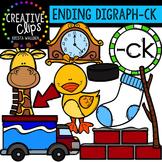 Ending Digraphs - CK Words {Creative Clips Digital Clipart}