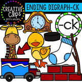 Ending Digraphs - CK Words {Creative Clips Digital Clipart}