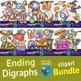 Ending Digraphs Clipart Bundle