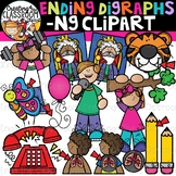 Ending Digraphs Clipart -NG Words {Digraphs Clipart}
