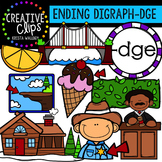 Ending Digraphs - DGE Words {Creative Clips Digital Clipart}