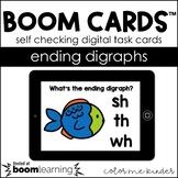 Ending Digraphs Digital BOOM! Cards Distance Learning 1st/
