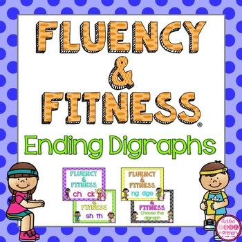 Ending Digraphs Fluency & Fitness Brain Breaks Bundle
