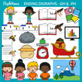 Ending Digraphs Gh and Ph Clipart