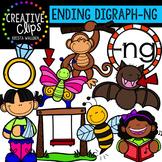 Ending Digraphs - NG Words {Creative Clips Digital Clipart}