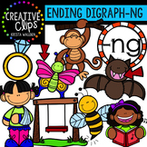 Ending Digraphs - NG Words {Creative Clips Digital Clipart}
