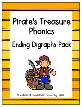Pirate's Treasure Phonics: Ending Digraphs Pack