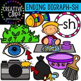 Ending Digraphs - SH Words {Creative Clips Digital Clipart}