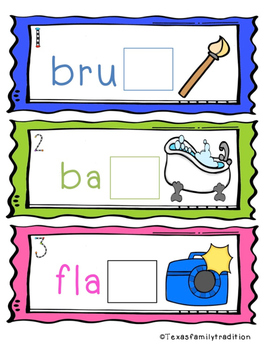 Ending Digraphs SH and TH Task Cards