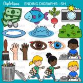 Ending Digraphs Sh Clipart