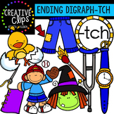 Ending Digraphs - TCH Words {Creative Clips Digital Clipart}