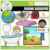 Ending Digraphs TH Words Clip Art