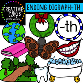 Ending Digraphs - TH Words {Creative Clips Digital Clipart}