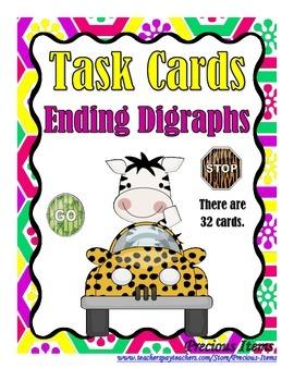 Ending Digraphs - Task Cards