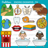 Ending Digraphs Th Clipart