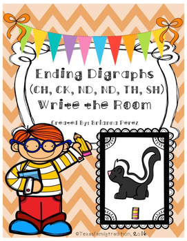 Ending Digraphs Write the Room Bundle