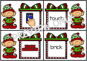 Ending Digraphs and Trigraphs Match Santa Elves Theme