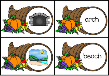 Ending Digraphs and Trigraphs Match Thanksgiving Theme