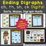 Ending Digraphs -sh, -th, -ch, -ck Digital Boom Cards Dist