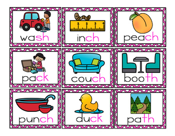 Ending Digraphs - sh, wh, ch, ck - Word Work