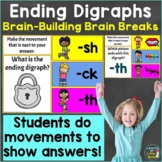 Ending Digraphs with Brain Breaks sh, th, ch, ck Google Sl