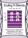 Ending/Final N Blends Sort (COLOR & BW)