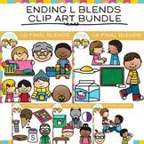 Ending Blends Clip Art: Ending L Blends Clip Art Bundle