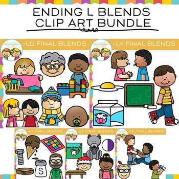 Ending Blends Clip Art: Ending L Blends Clip Art Bundle
