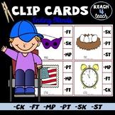 Ending Letter Sound Clip Cards (ck, ft, mp, pt, sk, st)