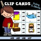 Ending Letter Sound Clip Cards (ng, nd, nk, nt)