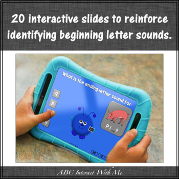 Ending Letter Sounds {Interactive Alphabet Game}