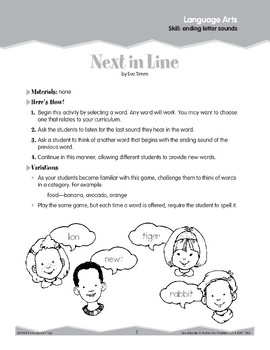 Ending Letter Sounds (Ten-Minute Activities)