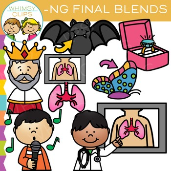 Ending Blends Clip Art: N Blends Clip Art Bundle
