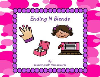 Ending N Blends Clip Cards