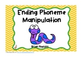 Ending Phoneme Manipulation Task Cards - Phonemic Awareness