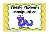Ending Phoneme Manipulation Task Cards - Phonemic Awareness