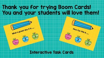 Ending Punctuation Boom Cards
