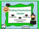 Ending Punctuation Center---Halloween Graphics