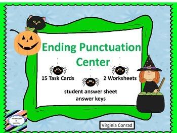 Ending Punctuation Center---Halloween Graphics