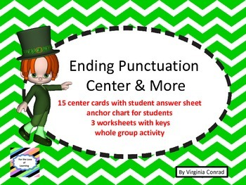 Ending Punctuation Center and More---St. Patrick's Day Theme