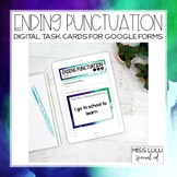 Ending Punctuation Digital Task Cards Distance Learning w/