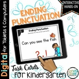 Ending Punctuation Digital Task Cards for Kindergarten - G